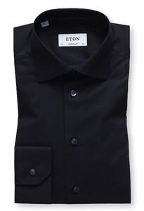 Eton Twill Shirt Zwart