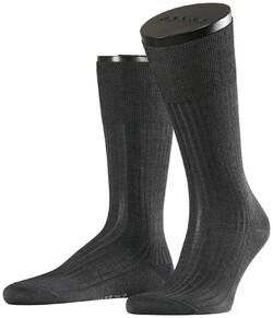 Falke No. 10 Socks Egyptian Karnak Cotton Antraciet Melange