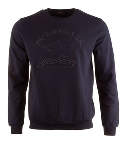 Paul & Shark Yachting Logo Round Neck Blauw