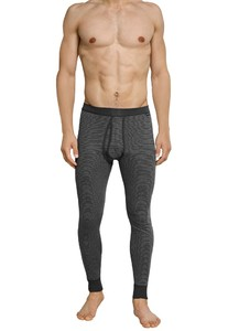 Schiesser Feinripp Melange Long Johns Anthracite Grey