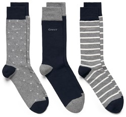 Gant 3Pack Stars And Stripes Socks Navy