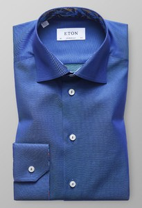 Eton Uni Floral Detail Diep Blauw