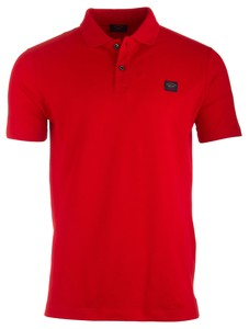 Paul & Shark Organic Cotton Basic Polo Rood