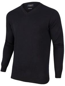 Cavallaro Napoli Merino V-Neck Pullover Zwart