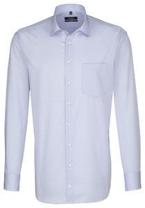 Seidensticker Uni Cotton Kent Sky Blue Melange