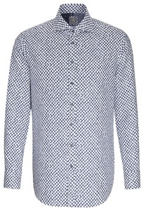 Jacques Britt Dotted Structure Check Donker Blauw