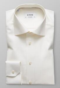 Eton Herringbone Signature Twill Gebroken Wit