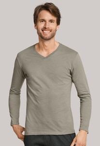 Schiesser Mix & Relax T-Shirt V-Neck Khaki