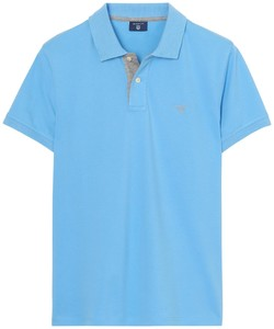 Gant Contrast Collar Pique Toy Blue