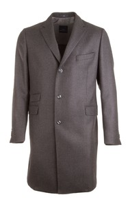 EDUARD DRESSLER Silvio Half Lined Luxury Coat Antraciet