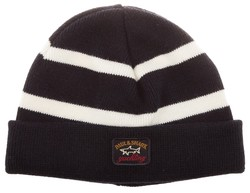 Paul & Shark Bretagne Navy-White Knitted Cap Navy-Wit