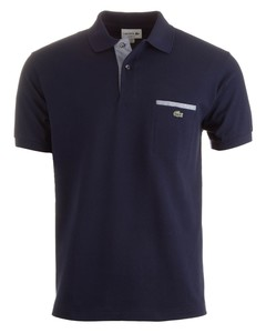 Lacoste Polo met Borstzak Dark Evening Blue