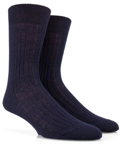 Doré Doré Rib Sock Mixed Wool Navy