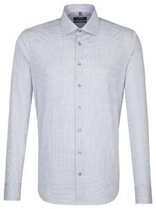 Seidensticker Tailored Check Grijs Licht Melange