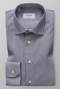 Eton Contemporary Striped Shirt Navy