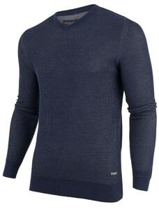 Cavallaro Napoli Dobio V-Neck Pullover Donker Blauw