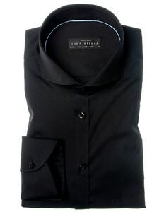 John Miller Tailored Fit Stretch Zwart