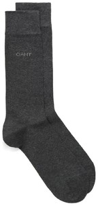 Gant Soft Cotton Socks Houtskool Grijs
