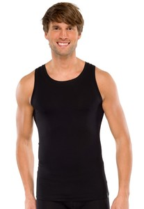 Schiesser Singlet Long Life Cotton Zwart