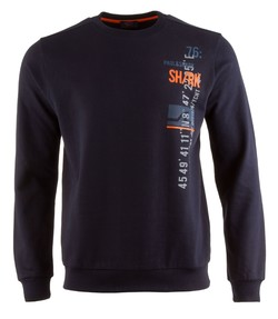 Paul & Shark Go Shark Logo Round Neck Blauw