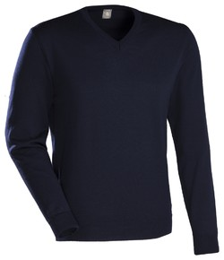 Jacques Britt JB Merino V-Neck Navy
