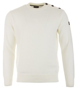 Paul & Shark Bretagne Merio Extrafine Button Shoulder Off White