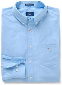Gant The Broadcloth Pinstripe Capri Blue