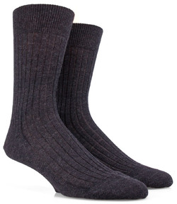 Doré Doré Rib Sock Mixed Wool Anthracite Grey
