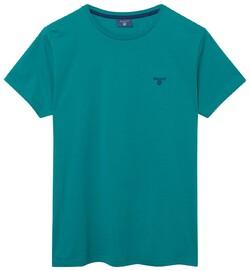 Gant Contrast Logo T-Shirt Emerald Green