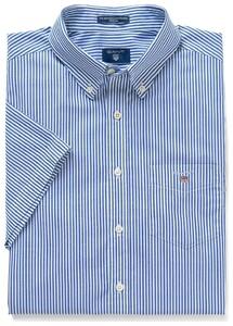 Gant The Broadcloth Banker Short Sleeve Yale Blue