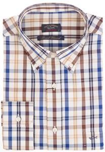Paul & Shark Royal Flannel Check Shirt Khaki