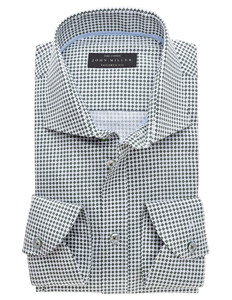 John Miller Fine-Cotton New Dot Donker Groen