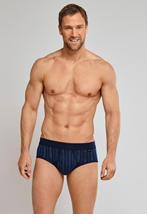 Schiesser Feinripp Sports Brief Gestreept Navy