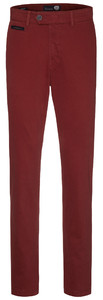Gardeur Benny-3 Cashmere Cotton Flat-Front Donker Rood