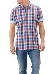 Maerz Big Check Shirt Berry Smoothie