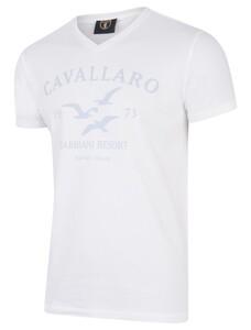 Cavallaro Napoli Gabbiani Tee Licht Blauw