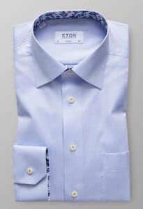 Eton Uni Floral Contrast Licht Blauw