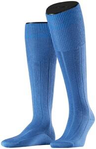Falke No. 3 Finest Camel and Silk Kniekous Linen Blue