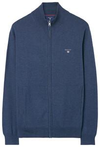 Gant Cotton-Wool Vest Dark Jeansblue Melange
