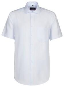 Seidensticker Spread Kent Short Sleeve Blauw