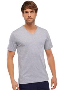 Schiesser Mix & Relax T-Shirt V-Hals Grijs