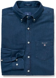 Gant The Indigo Shirt Donker Indigo