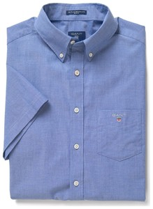 Gant The Broadcloth Short Sleeve Yale Blue