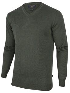 Cavallaro Napoli Merino V-Neck Pullover Donker Groen