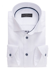 John Miller Tailored Cotton Stretch Shirt Wit