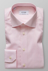 Eton Contemporary Striped Shirt Roze