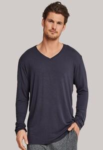 Schiesser Mix & Relax Modal T-Shirt V-Neck Donker Grijs