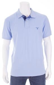 Gant Contrast Collar Piqué Licht Blauw