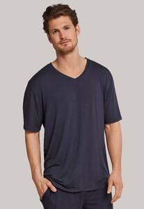Schiesser Mix & Relax Modal T-Shirt V-Hals Donker Grijs
