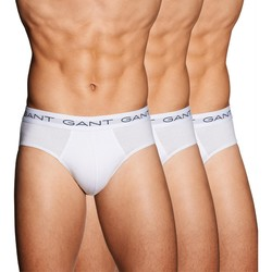 Gant 3Pack Cotton Hip Briefs Wit